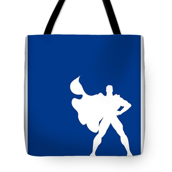 My Superhero 03 Super Blue Minimal Poster Tote Bag