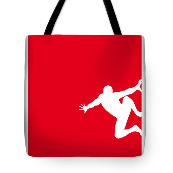 My Superhero 04 Spider Red Minimal Poster Tote Bag
