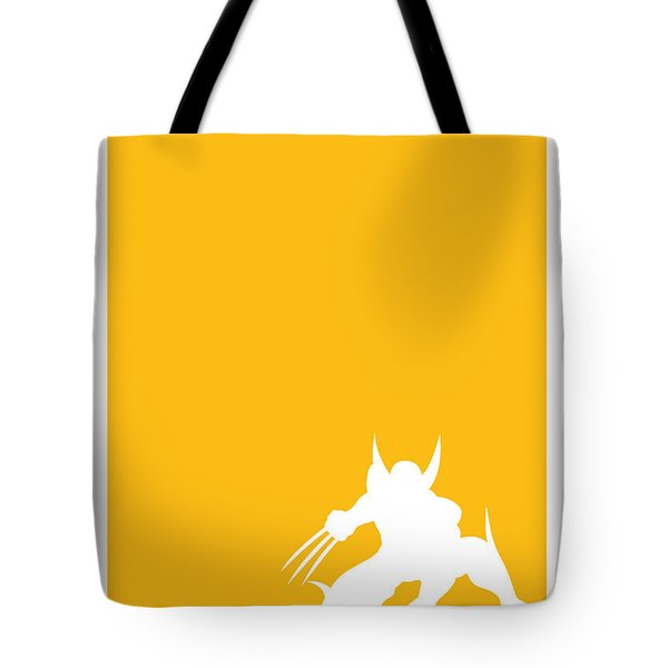 My Superhero 05 Wolf Yellow Minimal Poster Tote Bag
