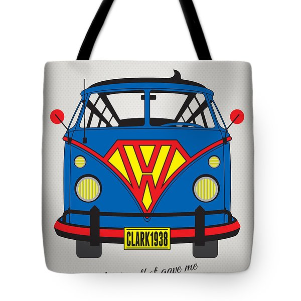 My Superhero-vw-t1-superman Tote Bag