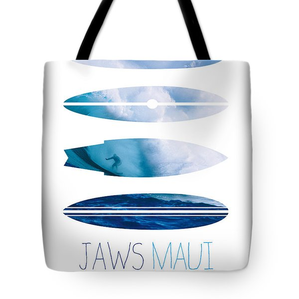 My Surfspots Poster-1-jaws-maui Tote Bag