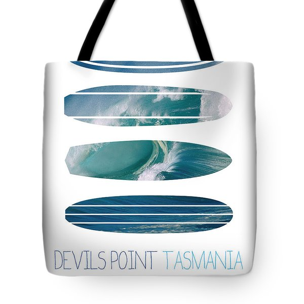 My Surfspots Poster-5-devils-point-tasmania Tote Bag
