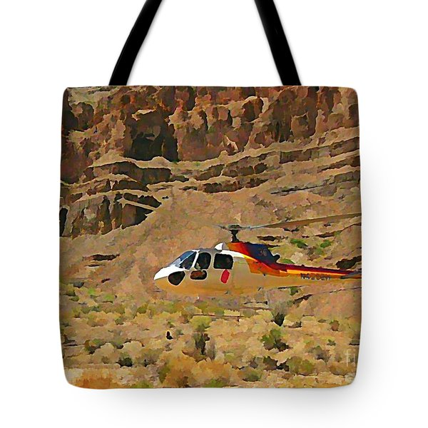My Taxi To The Grand Canyon And Back Tote Bag by John Malone