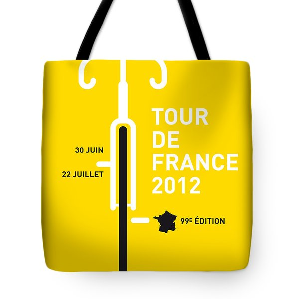 My Tour De France 2012 Minimal Poster Tote Bag