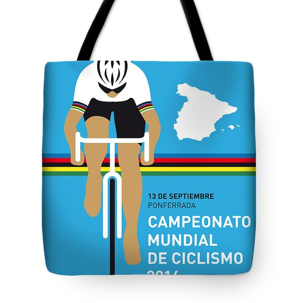 My Uci Road World Championships Minimal Poster 2014 Tote Bag