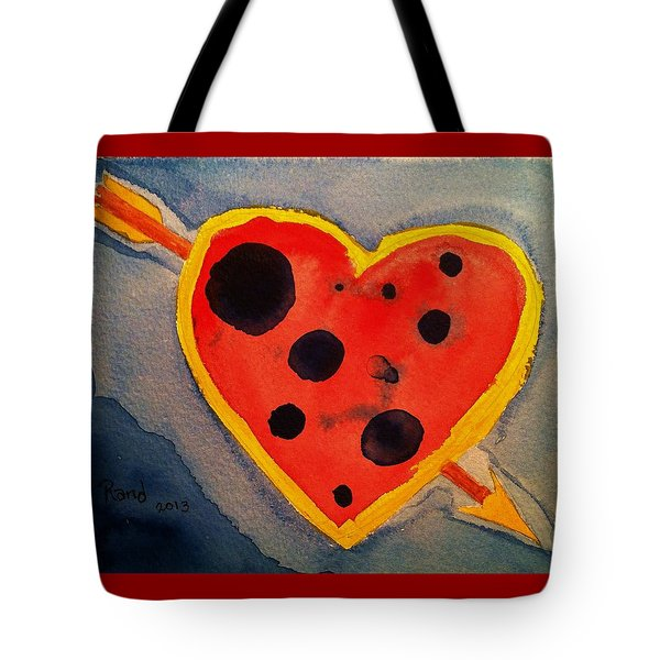 Tote Bag featuring the painting Imperfect Love by Rand Swift