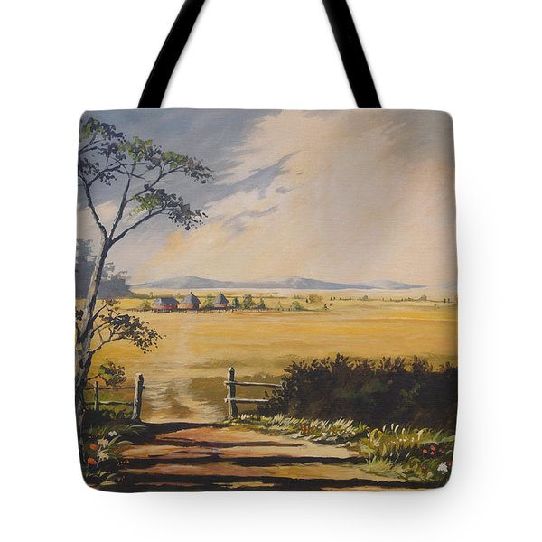 Tote Bag featuring the painting My Way Home by Anthony Mwangi
