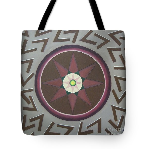 Tote Bag featuring the painting My Yantra by Mini Arora