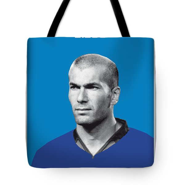 My Zidane Soccer Legend Poster Tote Bag by Chungkong Art