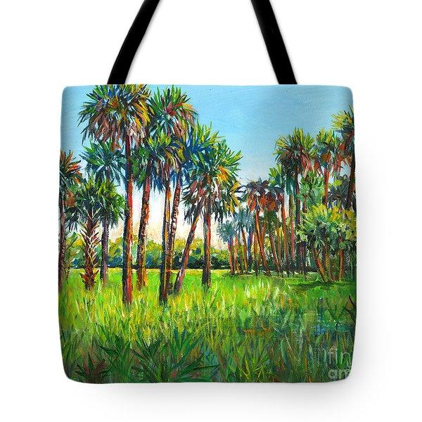 Myakka Palms Tote Bag by Lou Ann Bagnall