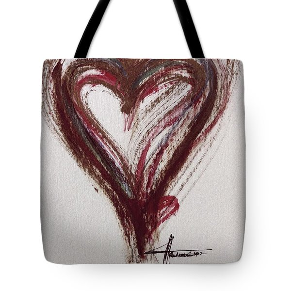 Myeloma Awareness Heart Tote Bag