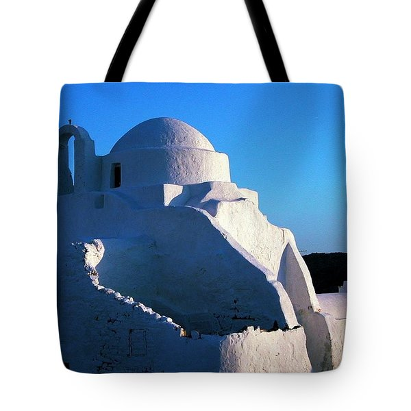 Tote Bag featuring the photograph Mykonos Island Greece by Colette V Hera  Guggenheim
