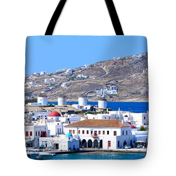Mykonos Port Tote Bag