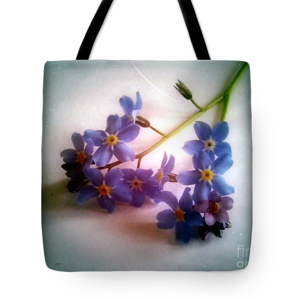 Myosotis  Forget Me Not Tote Bag