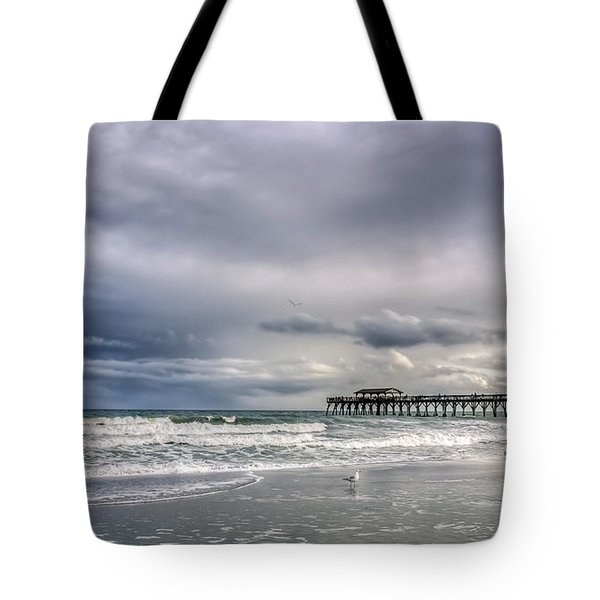 Myrtle Beach Fishing Pier Tote Bag by Rob Sellers