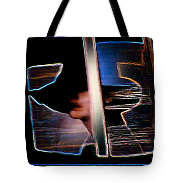 Tote Bag featuring the painting Mysterious Lady by Hartmut Jager