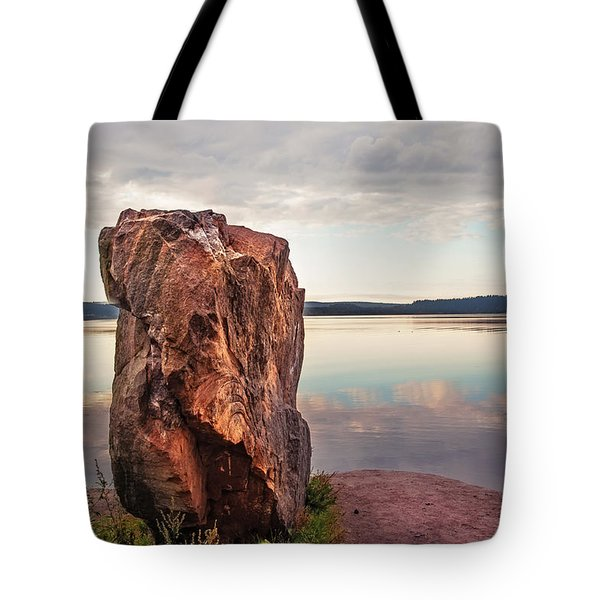 Mysterious Stone. Frontier In Between Old And New World Tote Bag by Jenny Rainbow