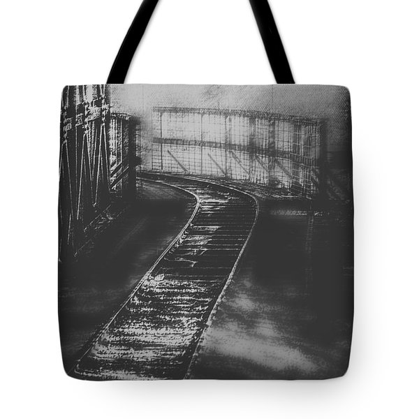 Mysterious Train Tracks Tote Bag by Melanie Lankford Photography