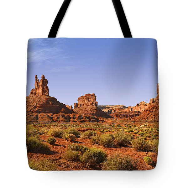 Mysterious Valley Of The Gods Tote Bag by Christine Till