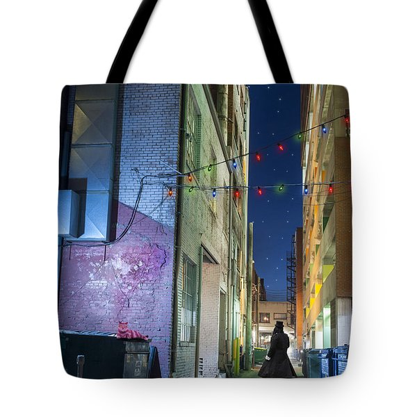 Mystery Alley Tote Bag