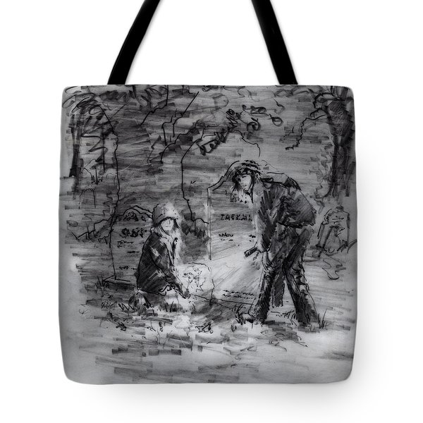 Mystery At Memorial Gardens Tote Bag