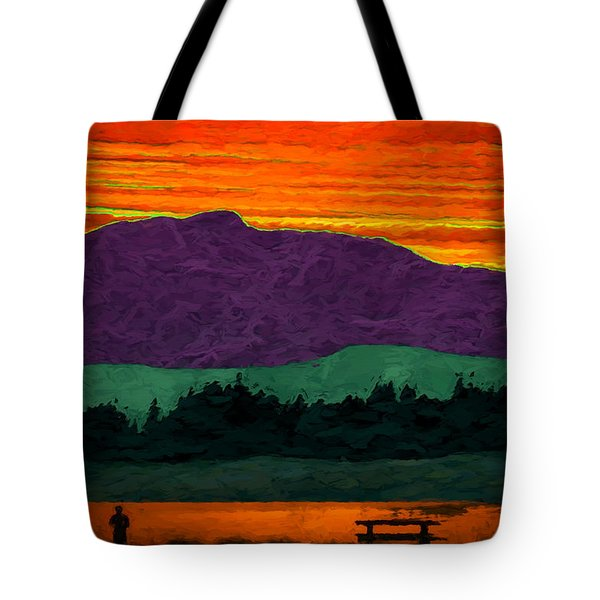 Mystery Mountain Tote Bag