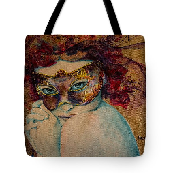 Mystery Roses Tote Bag