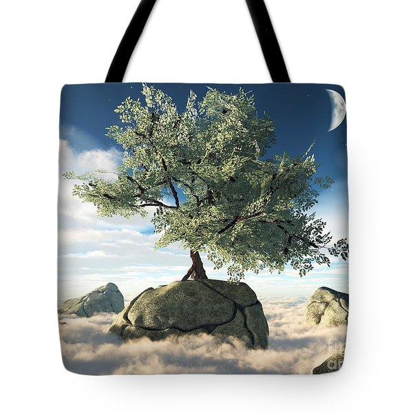 Mystery Tree Tote Bag by Eric Nagel