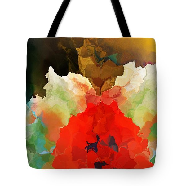 Tote Bag featuring the digital art Mystic Bloom by David Lane