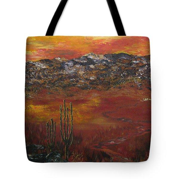 Mystic Desert Tote Bag by Linda Eversole