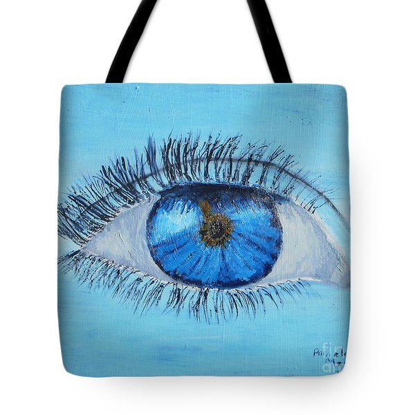 Tote Bag featuring the painting Mystic Eye by Pamela  Meredith