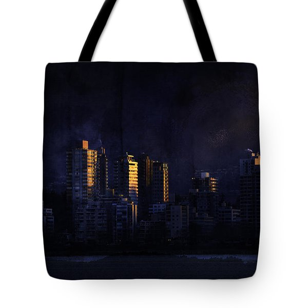 Mystic Orange Glowing Sunrise On Vancouver   Tote Bag