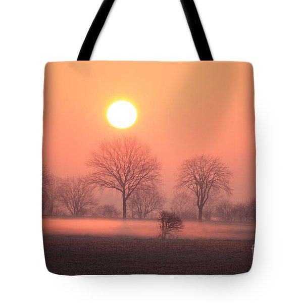 Mystic Red Sunrise Tote Bag