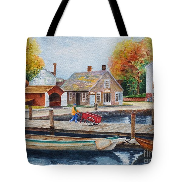 Mystic Seaport Tote Bag