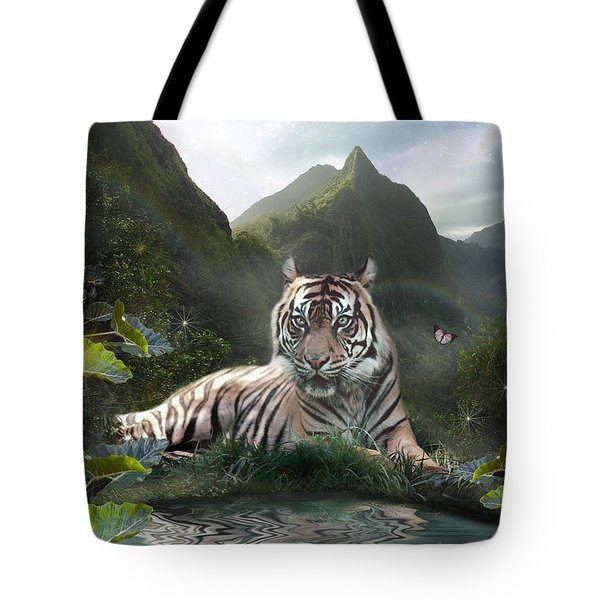 Mystic Tigress Tote Bag by Alixandra Mullins