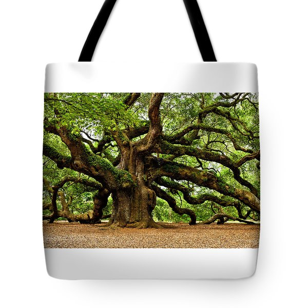 Tote Bag featuring the photograph Mystical Angel Oak Tree by Louis Dallara