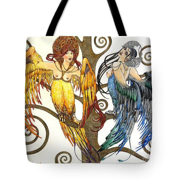 Mythological Birds-women Alconost And Sirin- Elena Yakubovich  Tote Bag