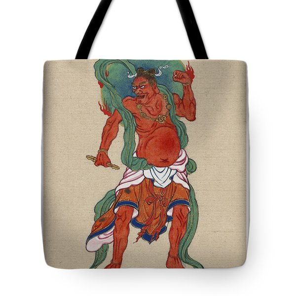 Mythological Buddhist Or Hindu Figure Circa 1878 Tote Bag by Aged Pixel
