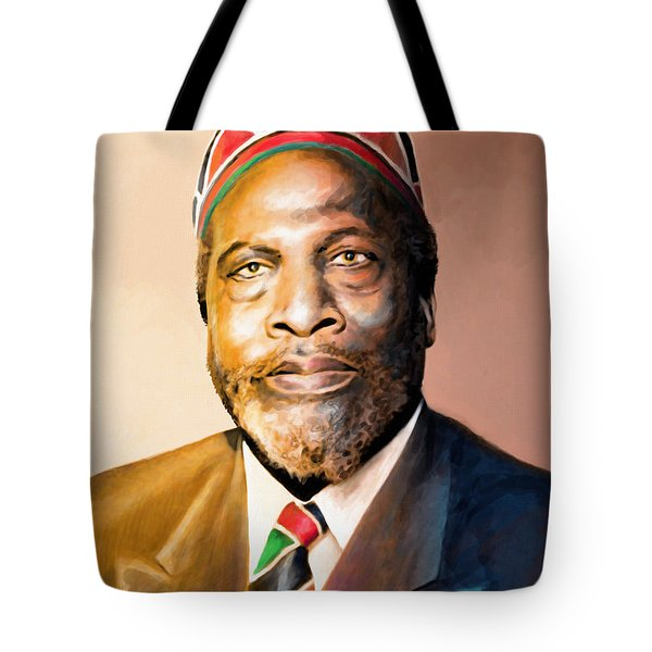 Mzee Jomo Kenyatta Tote Bag by Anthony Mwangi
