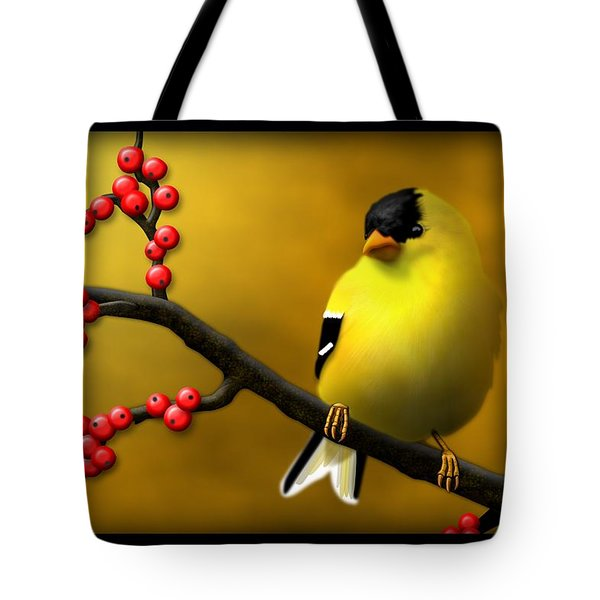 N. American Male Goldfinch Tote Bag