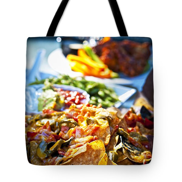 Nacho Plate And Appetizers Tote Bag by Elena Elisseeva