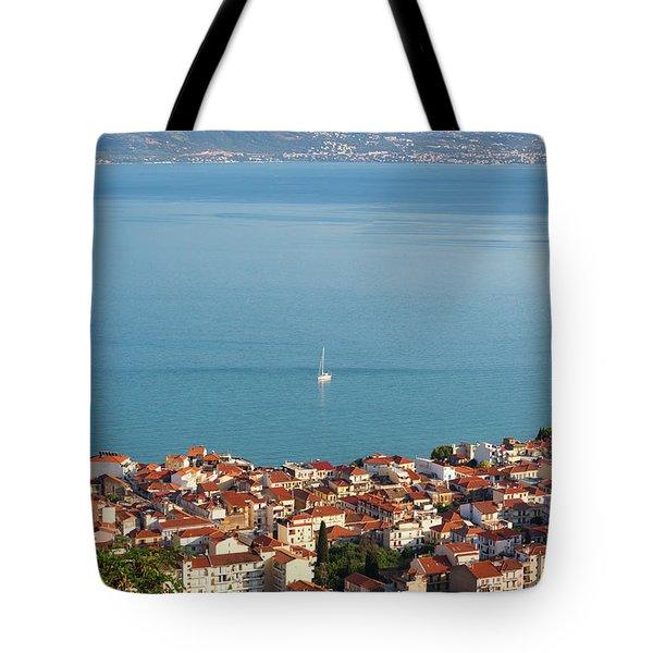 Nafpaktos, West Greece, Greece Tote Bag