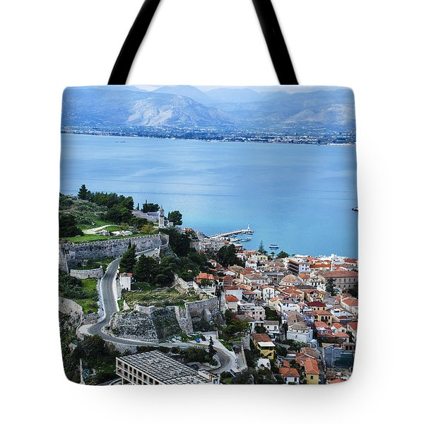 Nafplio And Argolic Gulf Tote Bag