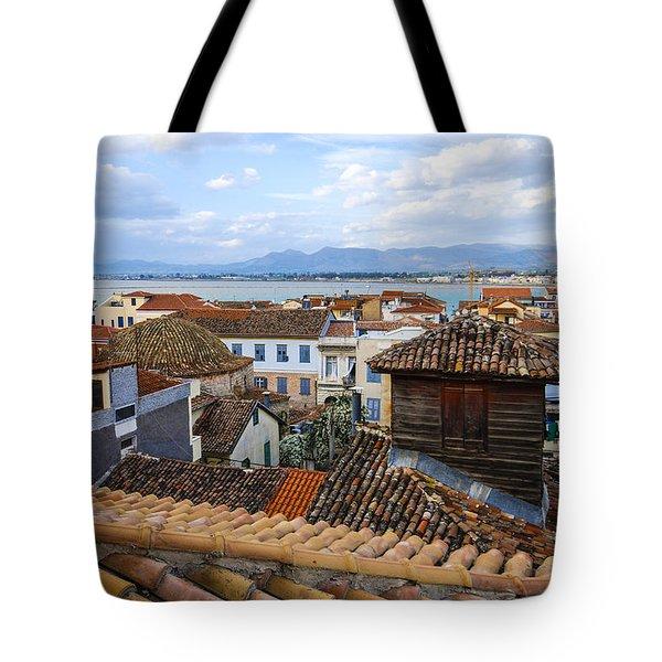 Nafplio Rooftops Tote Bag