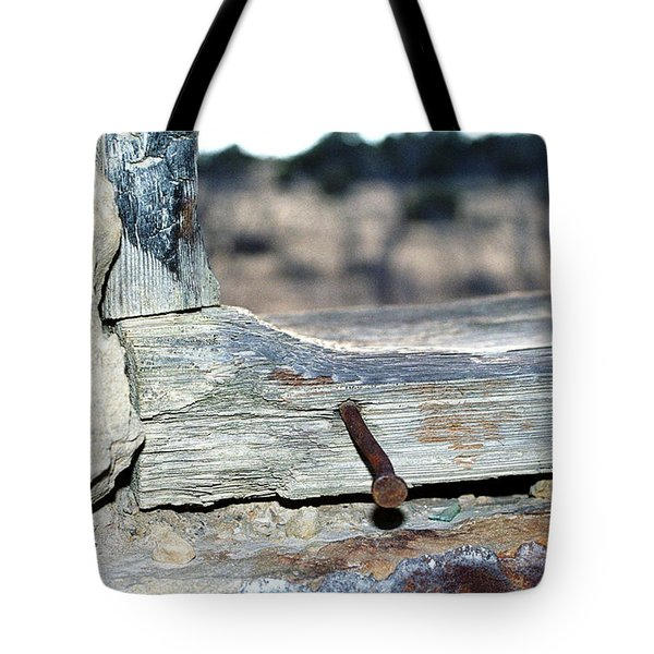 Tote Bag featuring the photograph Nail On The Trail by Susie Rieple