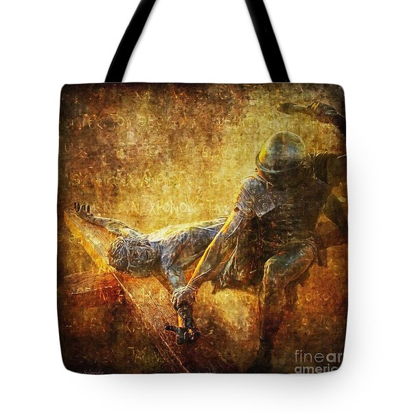 Nailed To The Cross Via Dolorosa 11 Tote Bag