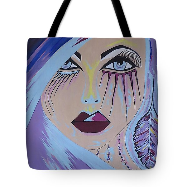 Tote Bag featuring the painting Naira by Kathleen Sartoris