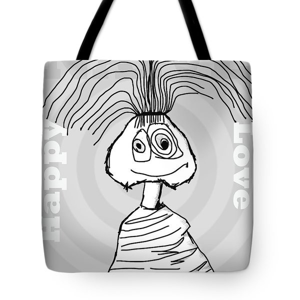 Naive - Gray Tote Bag by Tine Nordbred