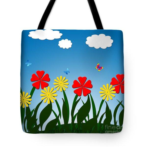Naive Nature Scene Tote Bag by Gaspar Avila
