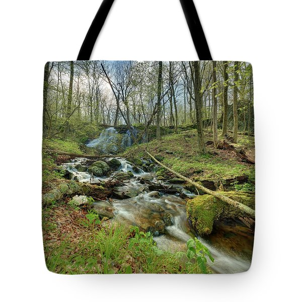 Naked Creek Falls Tote Bag